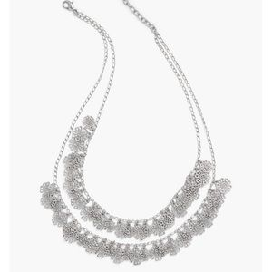 Talbots filigree double layer necklace